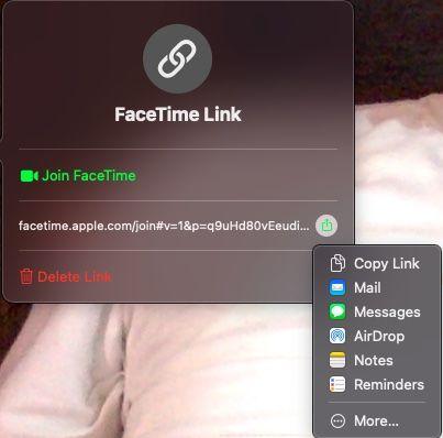 Así es cómo podemos usar FaceTime en Windows, compartiendo el enlace de la reunión desde Mac.