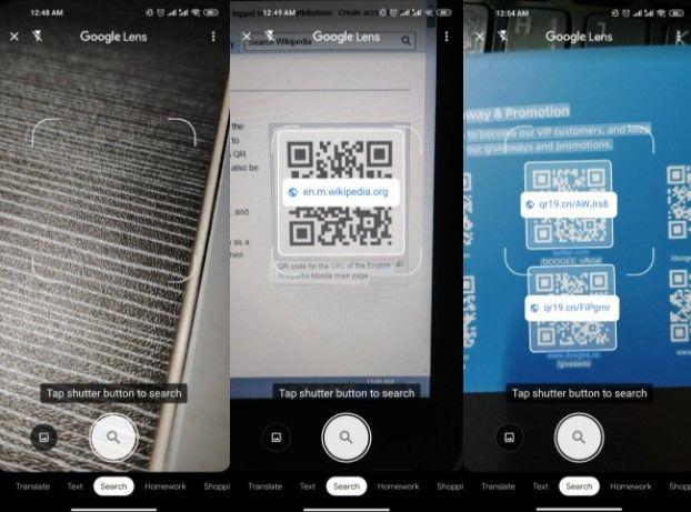 Código QR escaneado con la cámara de Android.