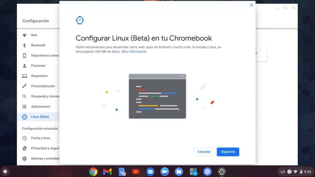 instalar Signal Chromebook 1,5