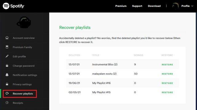 Recuperar playlists.