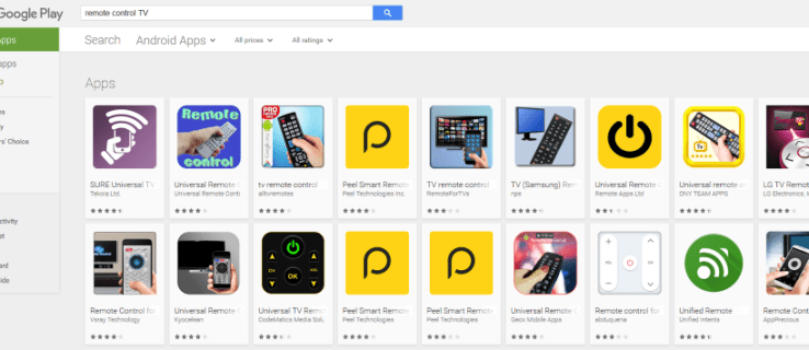 Aplicaciones de control remoto TV en Android.