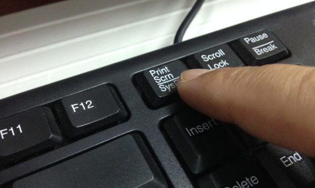 Primer método para tomar captura pantalla Windows