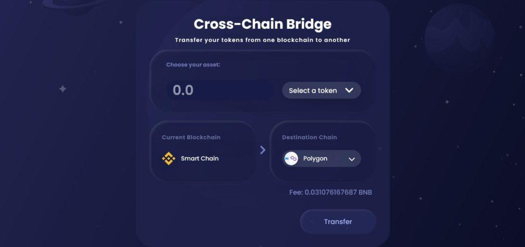 Transfer tokens to Polygon.