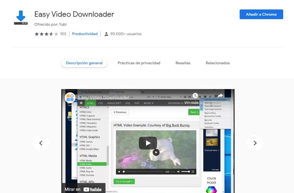 Nunca fue tan fácil descargar vídeos como con Easy Video Downloader.