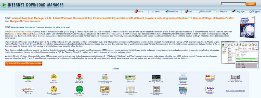 IDM es una de las más famosas y antiguas extensiones para descargar vídeos desde Chrome y cualquier navegador web.