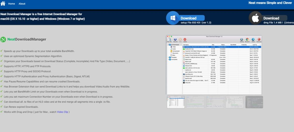 Neat Download Manager te facilita descargar vídeos.
