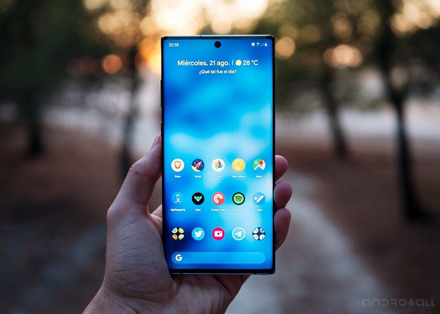 Cómo hacer una captura de pantalla en un Samsung Galaxy.