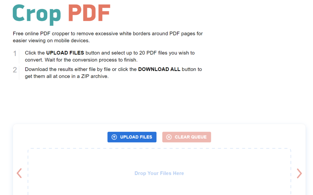 CropPDF es ideal para editar archivos PDF.