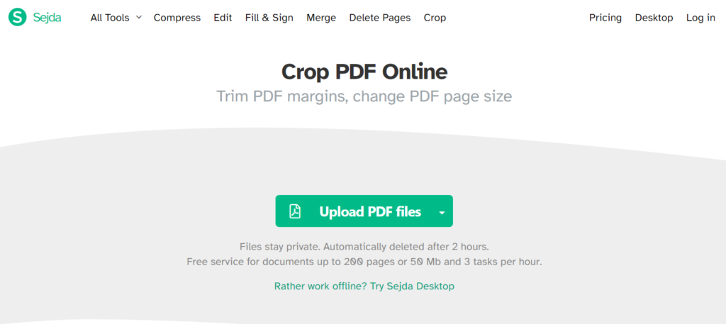 Crop PDF Online.