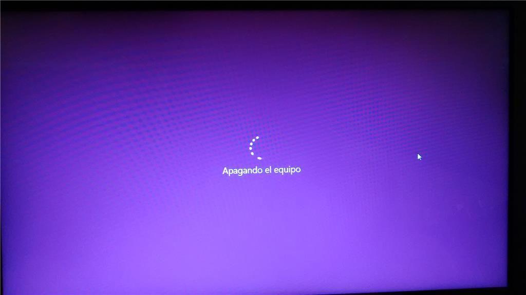 Mi PC se atasca en apagando el equipo