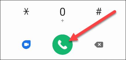 Marcamos el número de correo de voz en Android.