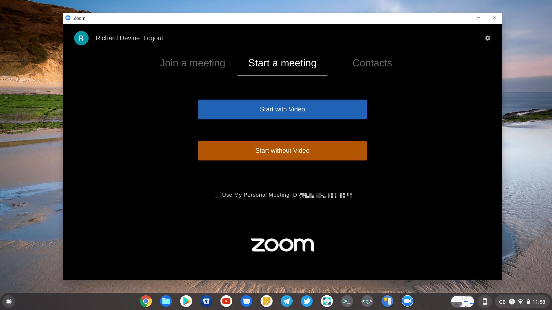 Zoom Chromebook