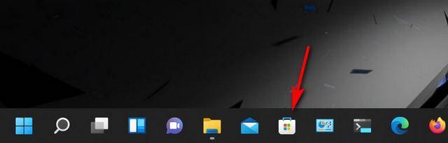 Abrir Microsoft Store desde la barra de tareas.