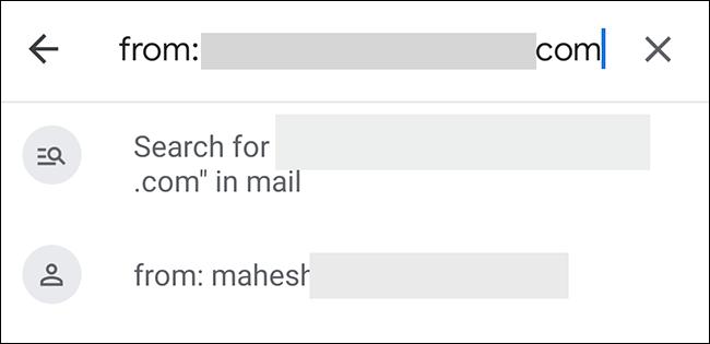 Buscar correo eletrónico del remitente en Gmail.