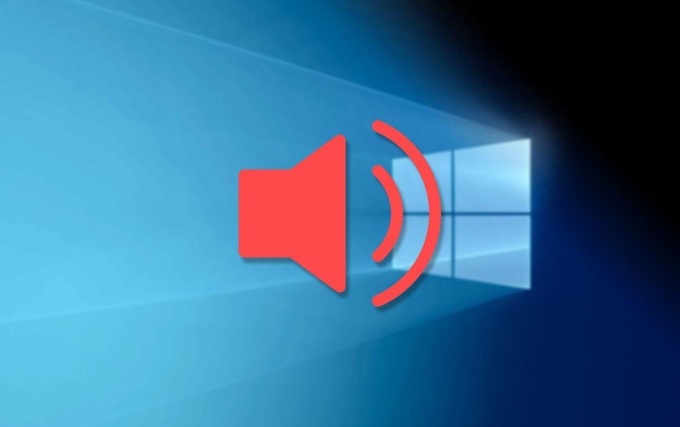 Corregir problemas de volumen en Windows 10.