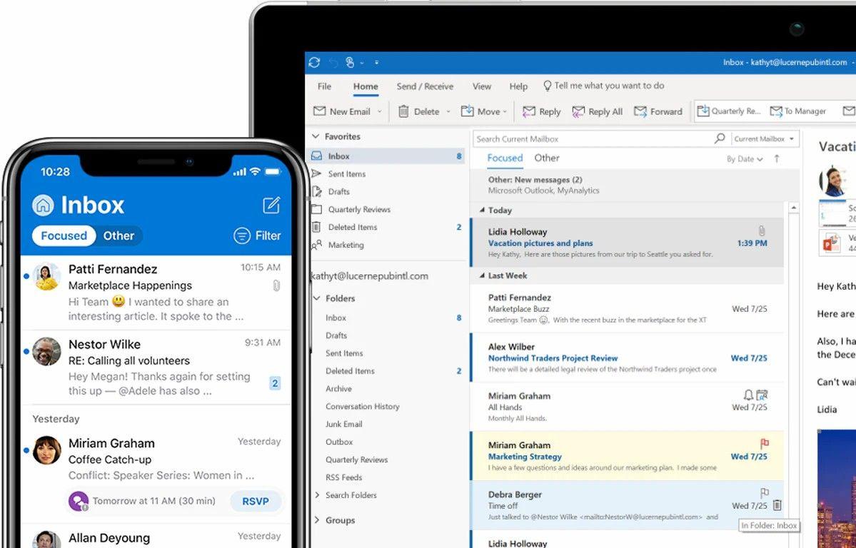 descargar correos electrónicos Outlook