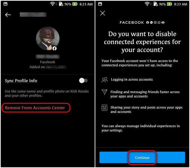 Así podemos desconectar Facebook de Instagram desde un dispositivo móvil.