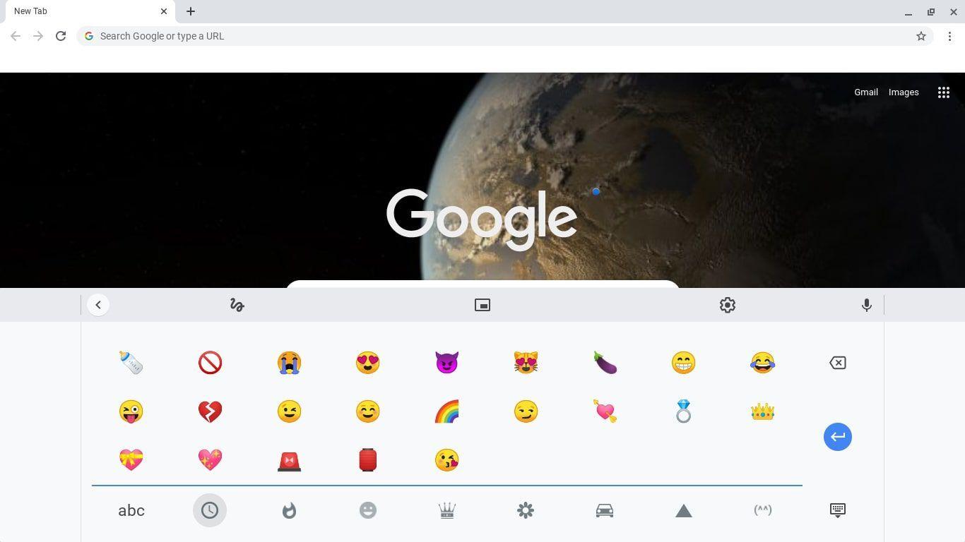 escribir emojis Chromebook 1