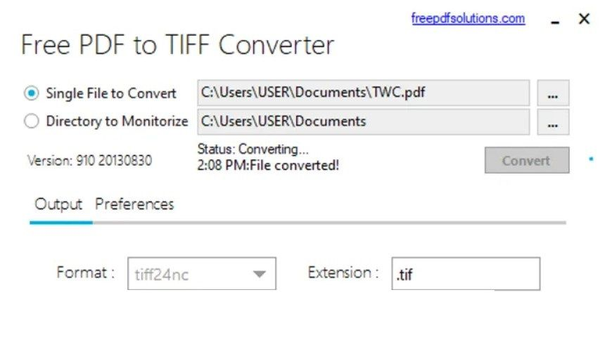 Cómo convertir documento PDF TIFF
