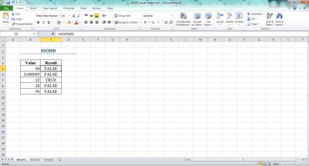 función ISODD Excel 2