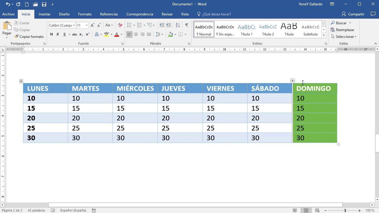 Cómo modificar propiedades tabla Word