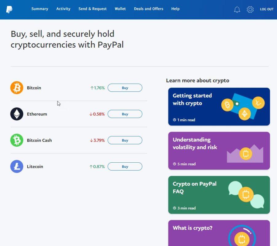 recargar Bitcoin con PayPal 3