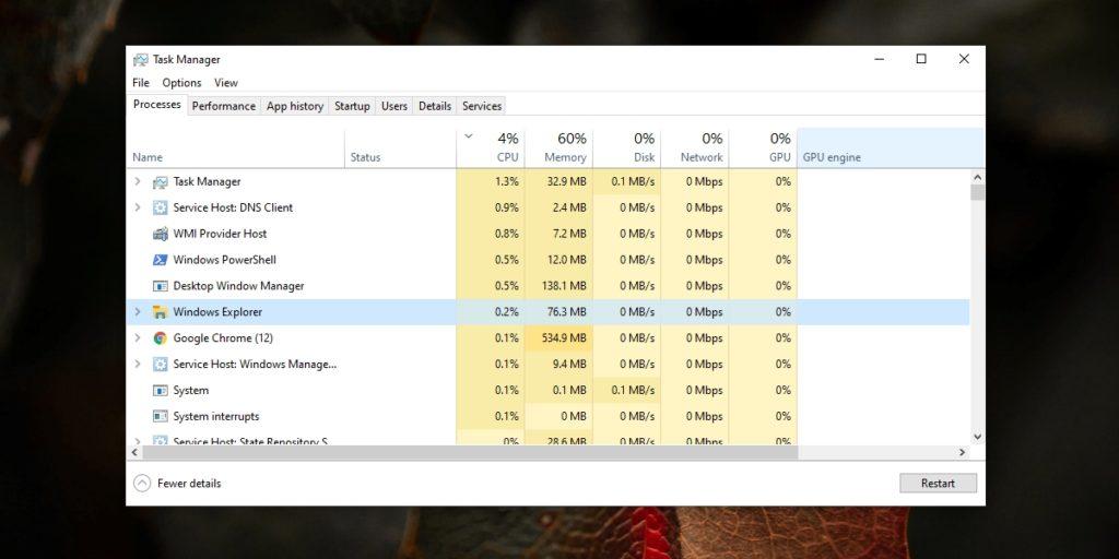 Reiniciar Explorador de Windows.