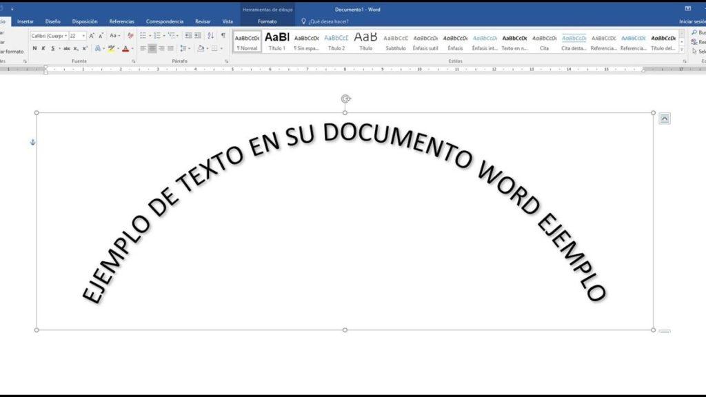 rotar texto Word 2