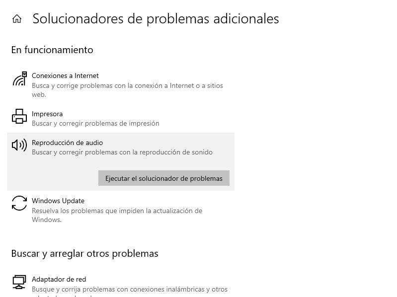 Ejecutar solucionar de problemas de audio para corregir el volumen de Windows.