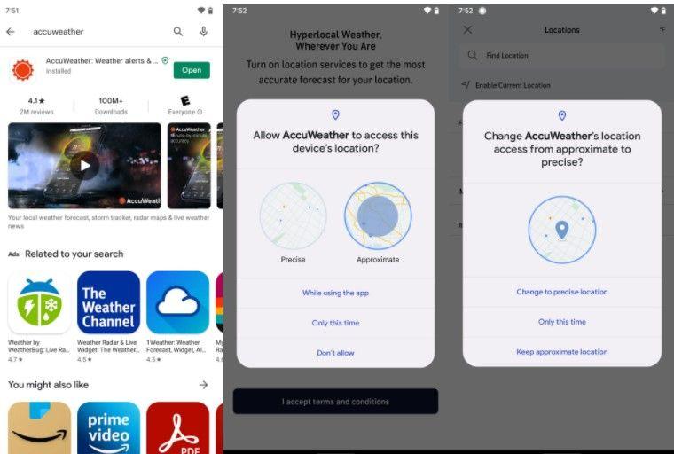 Configurar ubicación aproximada en aplicaciones de Android.