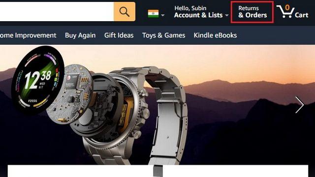 Devoluciones y pedidos en Amazon.