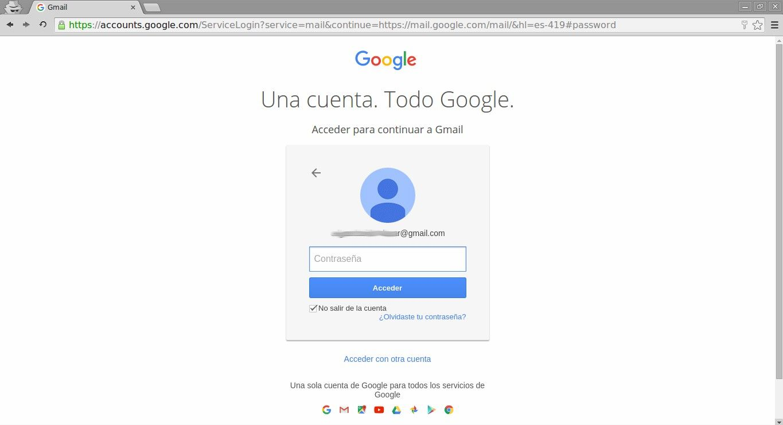 Inicio sesión Gmail otra cuenta 1