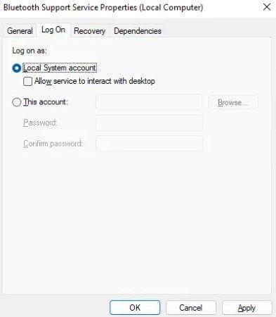 Cambiar soporte Bluetooth debido a que no funciona después de despertar de la suspensión.