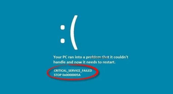 Solución error pantalla azul: CRITICAL_SERVICE_FAILED en Windows 11